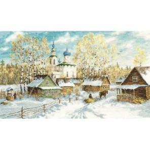 Деревенская зима Набор для вышивания Золотое Руно