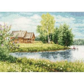 Домик у озера Олега Пятина Набор для вышивания Золотое Руно