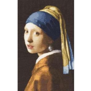 Девушка с жемчужной сережкой Набор для вышивания Золотое Руно