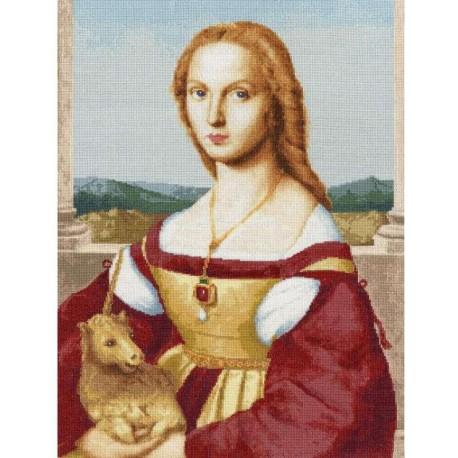 Дама с единорогом Рафаэля Санти Набор для вышивания Золотое Руно