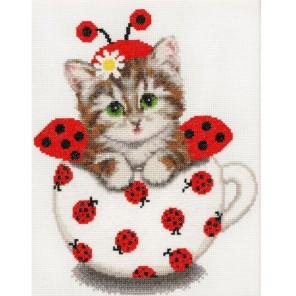 Котенок в чашке Набор для вышивания Золотое Руно
