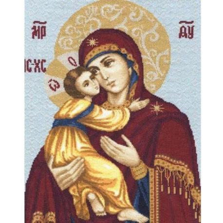 Владимирская икона Божьей Матери Набор для вышивания Золотое Руно