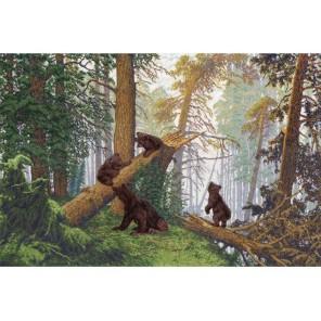 Утро в сосновом лесу Ивана Шишкина Набор для вышивания Золотое Руно