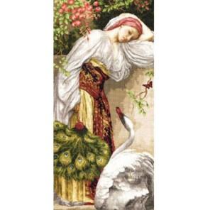 Девушка с лебедем Набор для вышивания Золотое Руно