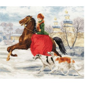 Зимняя прогулка Набор для вышивания Золотое Руно