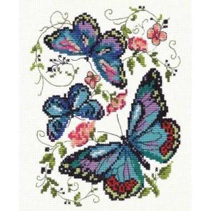 Синие бабочки Набор для вышивания Чудесная игла