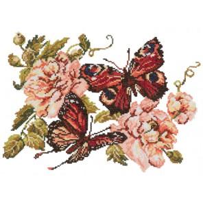 Пионы и бабочки Набор для вышивания Чудесная игла