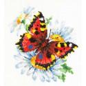 Бабочка и ромашка Набор для вышивания Чудесная игла