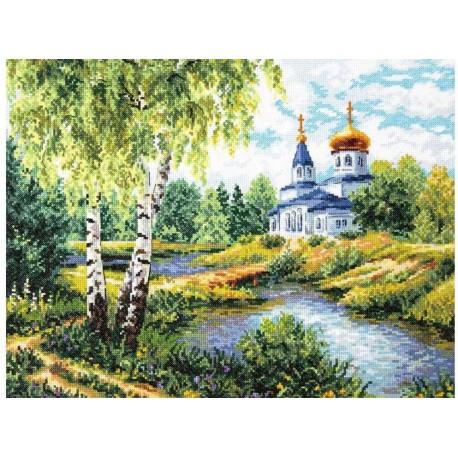 Дорога к храму Набор для вышивания Чудесная игла
