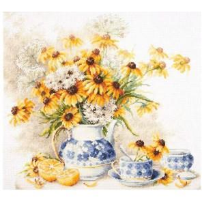 Цветочный чай Набор для вышивания Чудесная игла