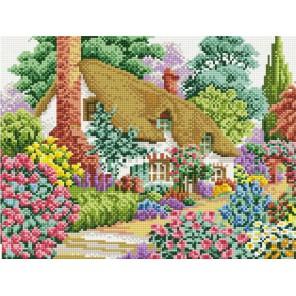 Дом в саду Алмазная вышивка мозаика на подрамнике Белоснежка