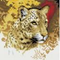 Портрет леопарда Алмазная вышивка мозаика на подрамнике Белоснежка
