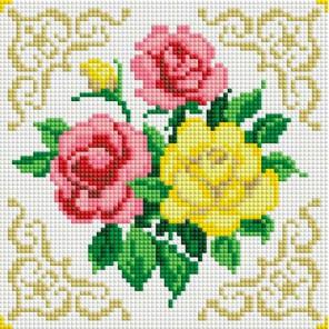 Маленькие розочки Алмазная вышивка мозаика на подрамнике Белоснежка