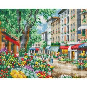 Цветочная улица Алмазная вышивка мозаика на подрамнике Белоснежка