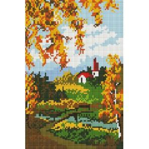 Осенний пейзаж Алмазная вышивка мозаика на подрамнике Белоснежка