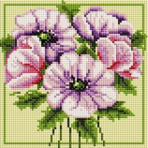 Чудесные цветы Алмазная вышивка мозаика на подрамнике Белоснежка
