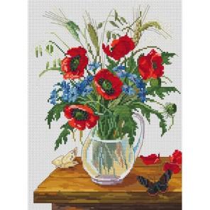 Букет полевых цветов Набор для вышивания Белоснежка