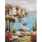 Городок на берегу Раскраска картина по номерам акриловыми красками на холсте Белоснежка