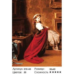 Сложность и количество цветов Модница (художник Фриц Цубер-Бюлер) Раскраска картина по номерам акриловыми красками на холсте Бел