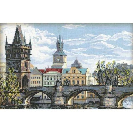 Прага. Карлов мост Набор для вышивания Риолис