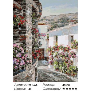 Сложность и количество цветов В провинции Гранада Раскраска картина по номерам акриловыми красками на холсте Белоснежка