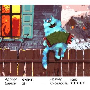 Гармонист Раскраска картина по номерам акриловыми красками на холсте