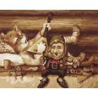 Кот-балалаечник Раскраска картина по номерам акриловыми красками на холсте