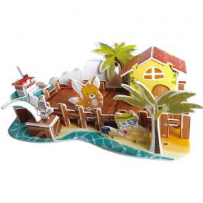 Рыбацкая пристань (мини серия) 3D Пазлы Zilipoo