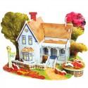Романтический дом (мини серия) 3D Пазлы Zilipoo