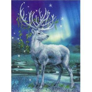 Белый олень Набор для вышивания Риолис