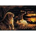 Львы в саванне Набор для вышивания Риолис