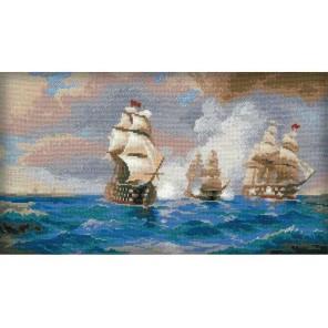 Бриг Меркурий, атакованный двумя турецкими кораблями Набор для вышивания Риолис