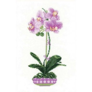 Сиреневая орхидея Набор для вышивания Риолис