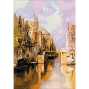 Амстердам. Канал Аудезейтс Форбургвал Набор для вышивания Риолис