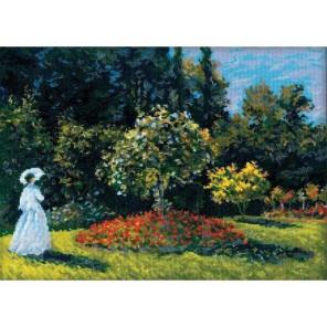 Дама в саду по мотивам картины К.Моне Набор для вышивания Риолис