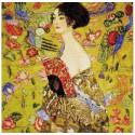 Дама с веером по мотивам картины Г.Климта Набор для вышивания Риолис