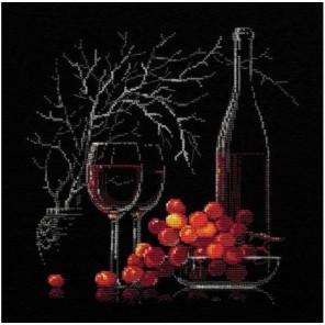 Натюрморт с красным вином Набор для вышивания Риолис