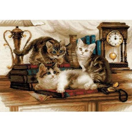 Пушистые друзья Набор для вышивания Риолис