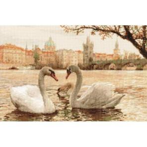 Лебеди. Прага Набор для вышивания Риолис