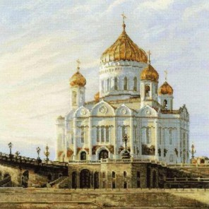 Москва. Храм Христа Спасителя Набор для вышивания Риолис