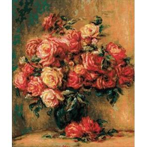 Букет роз по мотивам картины Пьера Огюста Ренуара Набор для вышивания Риолис
