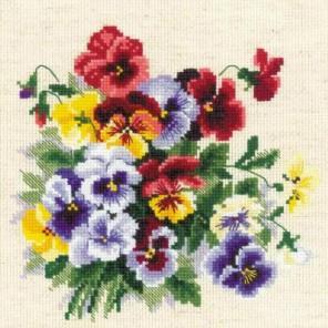 Пёстрые анютки Набор для вышивания Риолис