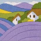 Лаванда (длинный вертикальный стежок) Набор для вышивания Риолис