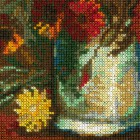 Ваза с маками, васильками и хризантемами по мотивам картины В. Ван Гога Набор для вышивания Риолис