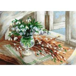 Верба и подснежники Набор для вышивания Риолис