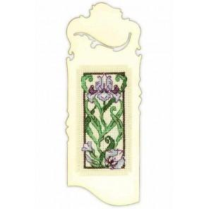 Закладка. Цветущий ирис Набор для вышивания Риолис