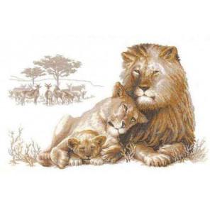 Львиный рай Набор для вышивания Риолис