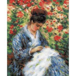 Мадам Моне за вышивкой по мотивам картины Клода Моне Набор для вышивания Риолис