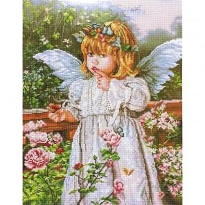 Ангелочек и бабочка Алмазная мозаика вышивка Painting Diamond