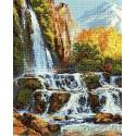 Водопад в горах Алмазная мозаика вышивка Painting Diamond